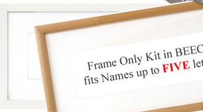 NEW! Name Art FRAME ONLY KIT