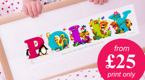 NEW! Name Art PRINT ONLY from £25